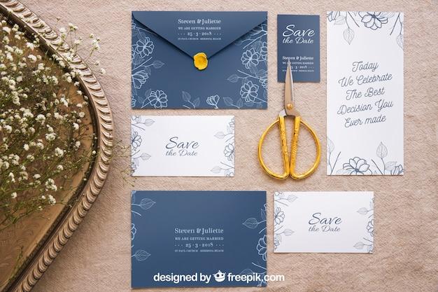 Elegant wedding mockup