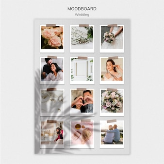 Elegant wedding moodboard template