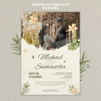 Elegant wedding poster template