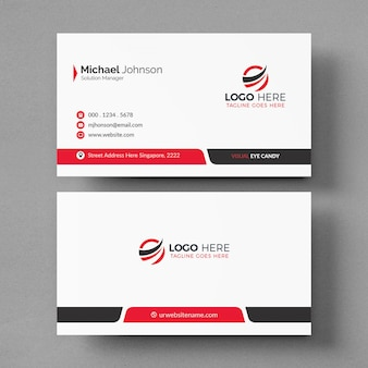 Elegant white business card mockup