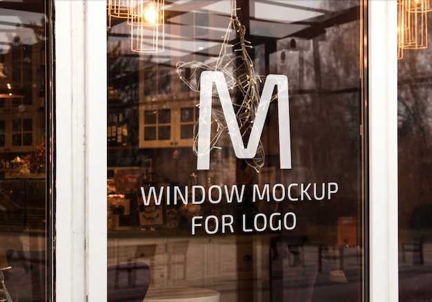 Elegant window mockup for logo