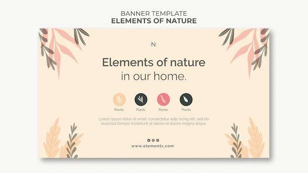 Elementi del modello di banner della natura