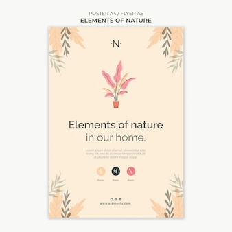Elements of nature print template