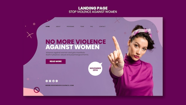 Elimination of violence against women landing page
