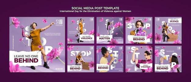 Elimination of violence against women social media posts