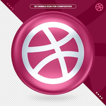Ellipse 3d color dribbbleロゴ
