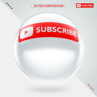 Ellipse 3d side white youtube subscribe