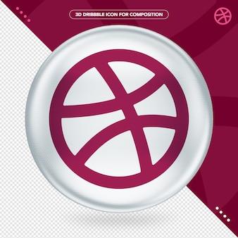 Приложение с логотипом ellipse 3d white dribbble