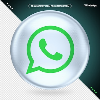Ellipse white 3d whatsapp logo