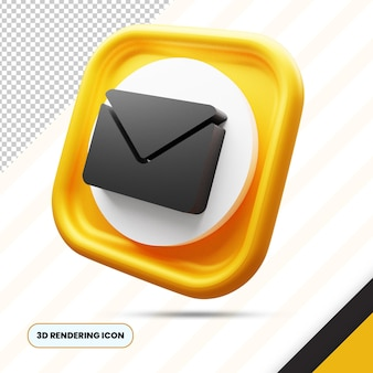 Email and envelope 3d rendering icon png