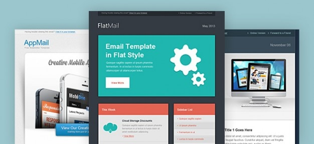 Email newsletter template in clear designs