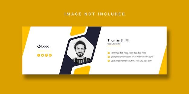 Design del modello di firma e-mail o modello di copertina di facebook