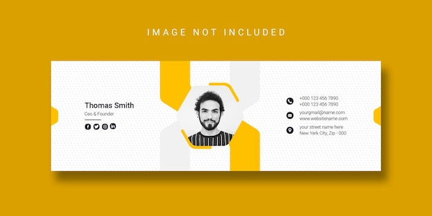 Email signature template design or facebook cover template