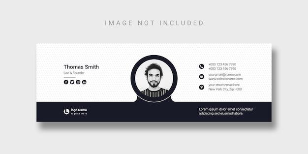 Дизайн шаблона подписи электронной почты или шаблон обложки facebook