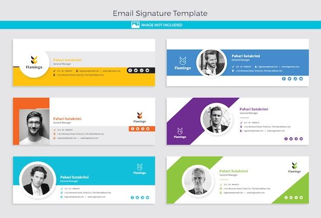Email signature template design