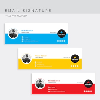 Шаблон подписи электронной почты