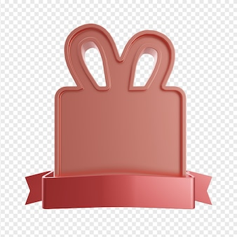 Эмблема или баннер с подарочными формами и лентами изолированы