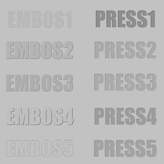 Embos and press layer style for photoshop text effect