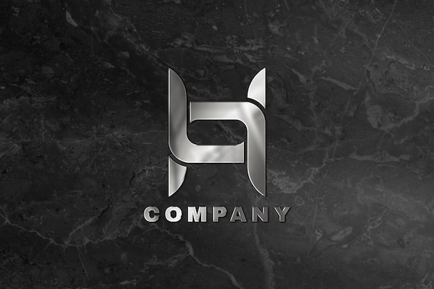 Emboss logo mockup psd for company