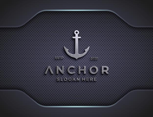 Embossed logo mockup on luxury textured wall