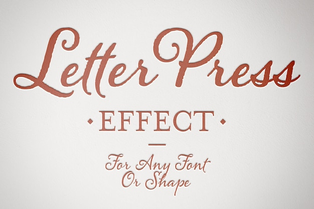 Embossed paper text effect mockup