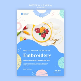 Embroided flyer template
