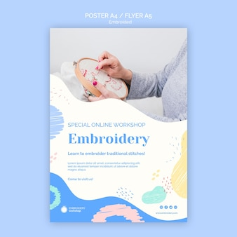 Embroided poster template