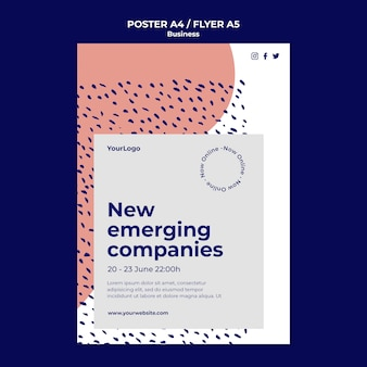 Emerging companies poster template