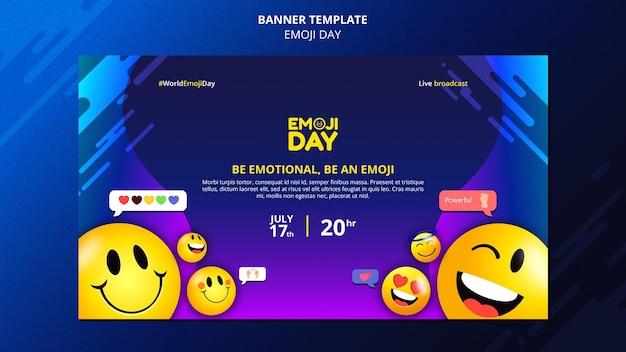 Emoji day banner template