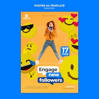 Emoji day print template