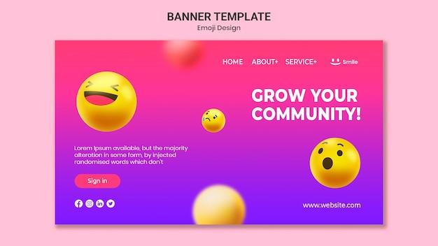 Emoji дизайн баннера шаблон