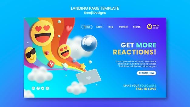 Emoji design landing page
