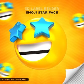 이모티콘 얼굴 스타 3d 렌더링