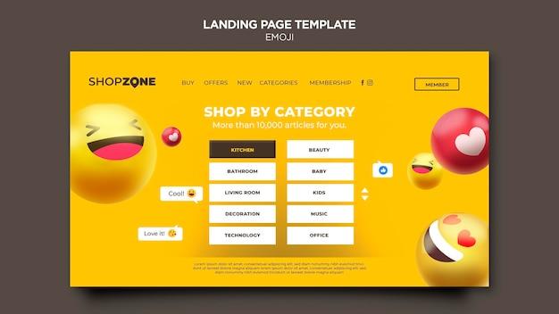 Emoji landing page