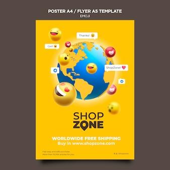 Emoji poster a4 template