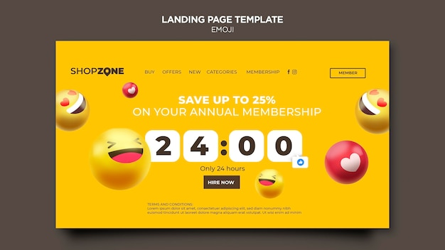 Emoji web template