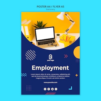 Employment business poster template