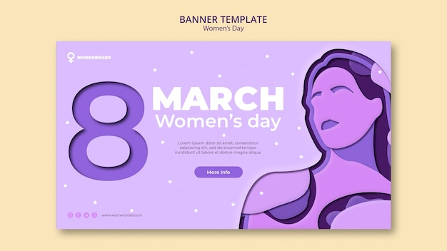 Empowering women's day banner template