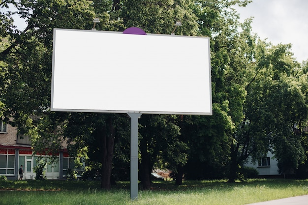 Empty billboard in the city