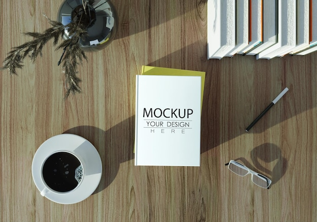 Empty book or magazine mockup