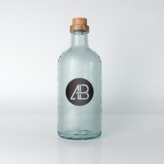 Empty bottle mock up