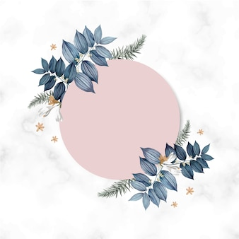 Empty floral card frame design
