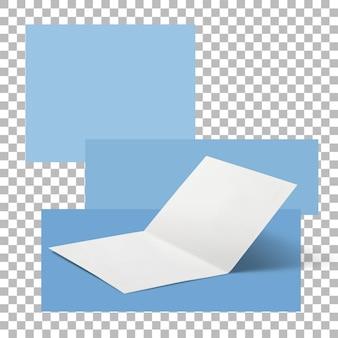 Пустая открытка, изолированные на прозрачном фоне