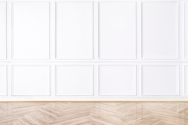 Empty room wall mockup psd luxury interior design