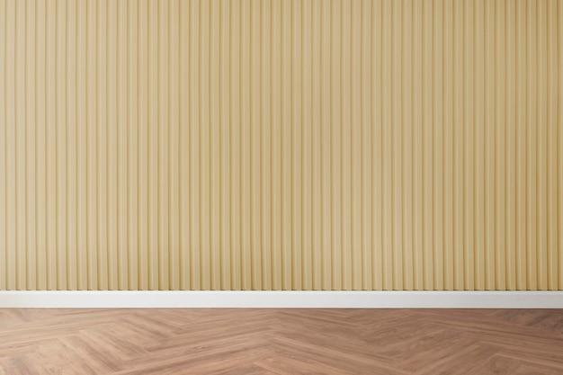 Empty room wall mockup psd minimal interior design