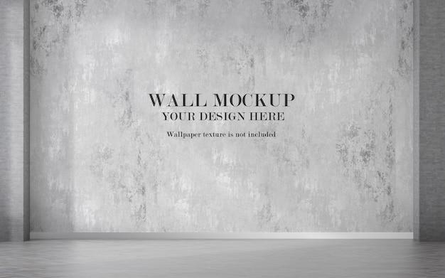 Empty room wall mockup