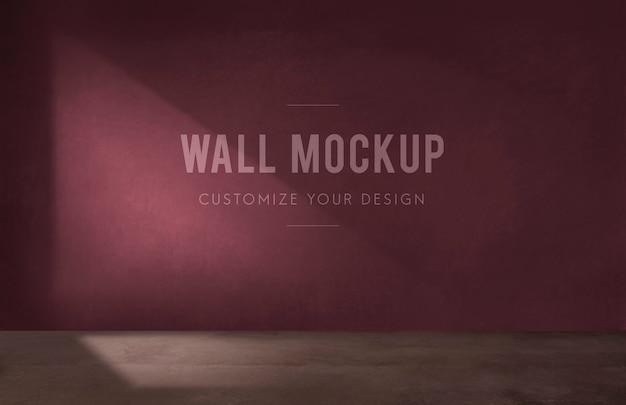 Пустая комната с бордовым стенным макетом