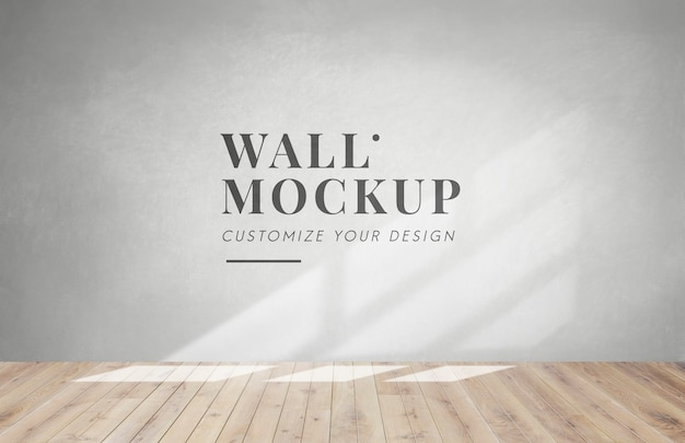 Пустая комната с серым стенным макетом