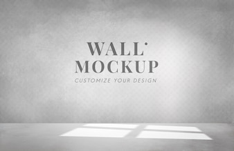 Empty room with a gray wall mockup