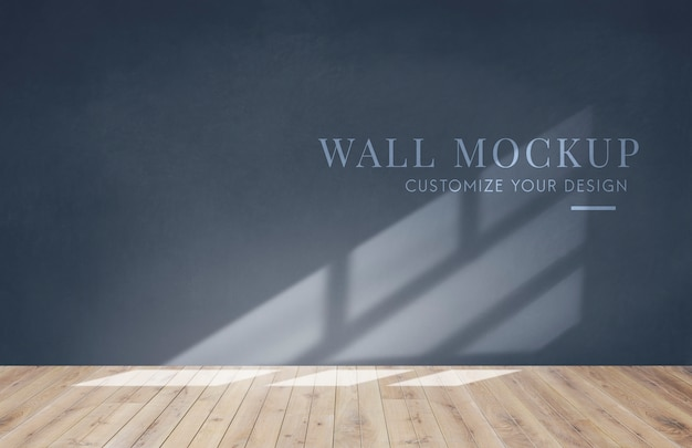 Empty room with a dark gray wall mockup